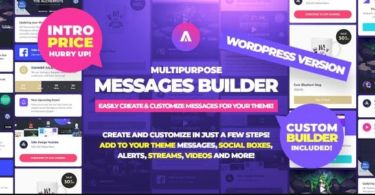 Asgard – Multipurpose Messages and Social Builder Plugin