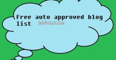 Auto Approved Blog Site List For Backlinks