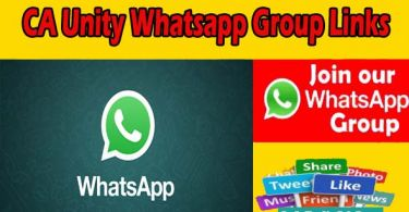 CA Unity Whatsapp Group Links