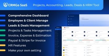 CRMGo SaaS– Projects Accounting Leads Deals & HRM Tool