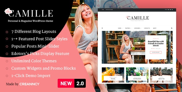 Camille – Personal & Magazine WordPress Theme