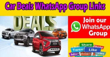 Car Deals WhatsApp Group Links