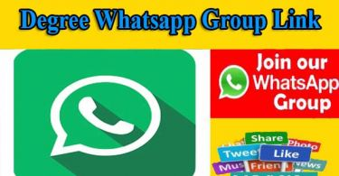 Degree Whatsapp Group Link