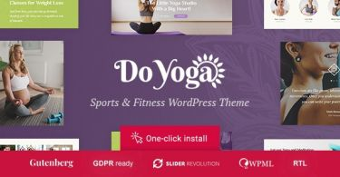 Do Yoga – Fitness Studio & Pilates Club WordPress Theme