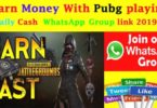 Earn Money With Pubg Daily Cash WhatsApp Group Link