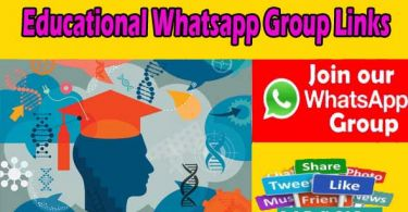Educational Whatsapp Group Links