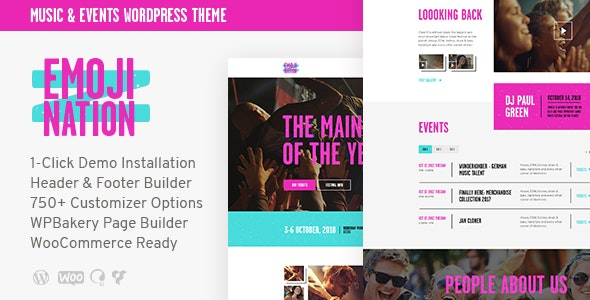 EmojiNation – Night Club & Concert Event WordPress Theme