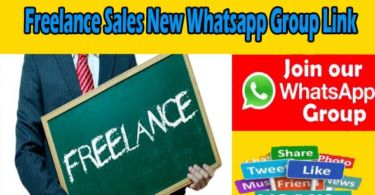 Freelance Sales New Whatsapp Group Join Link