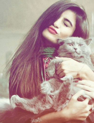 Girl with Cat Facebook DP