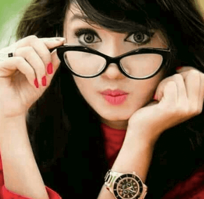 Girl with goggle WhatsApp DP