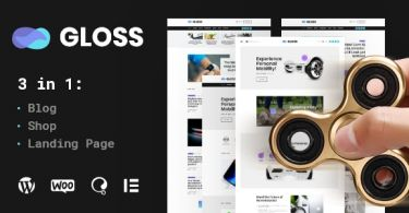 Gloss – Viral News Magazine WordPress Blog Theme + Shop