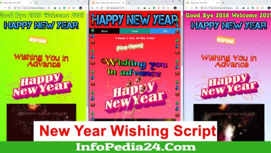 Download Happy New Year Wishing Script 2019