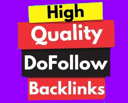 High Quality Dofollow Backlinks Off Page SEO