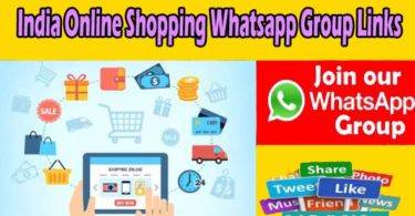 India Online Shopping Whatsapp Group Links