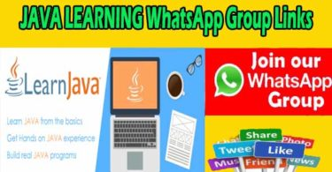 JAVA LEARNING WhatsApp Group Links