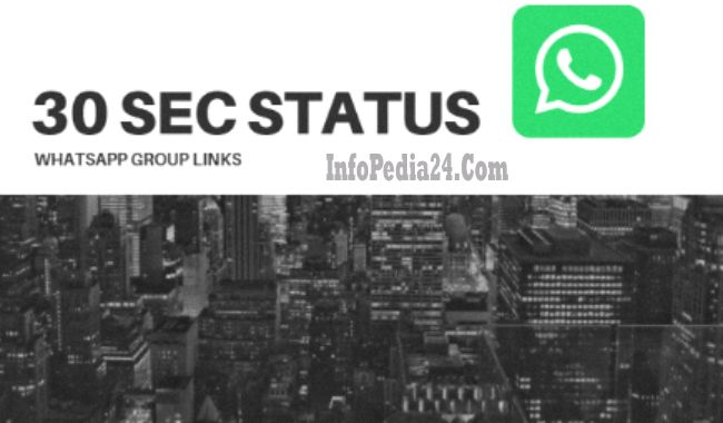 Join 30 Sec Status Whatsapp Group Links Online Information