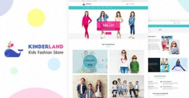 Kinder land Kids Fashion Store Shopify Theme
