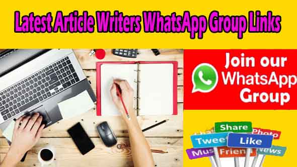 Latest Article Writers WhatsApp Group Links