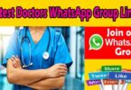 Latest Doctors WhatsApp Group Links