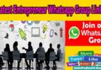 Latest Entrepreneur Whatsapp Group Links