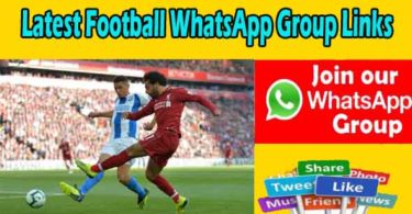 Latest Football WhatsApp Group Links