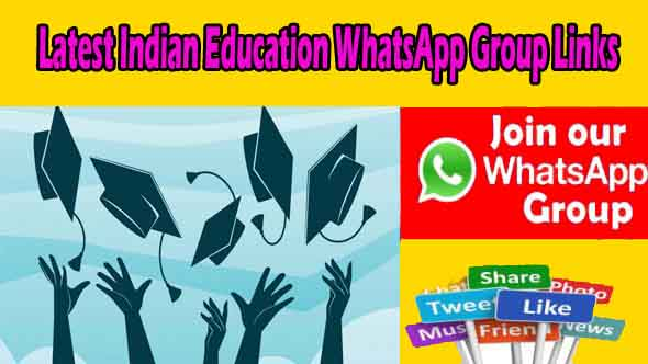Latest Indian Education WhatsApp Group Links