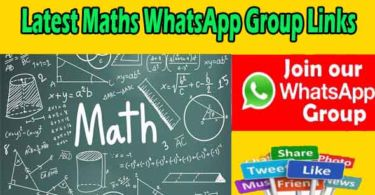 Latest Maths WhatsApp Group Links
