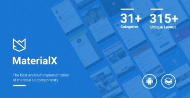 MaterialX – Android Material Design UI Components