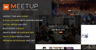 Meetup - Conference Event Joomla Template