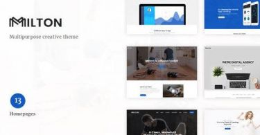 Milton – Multipurpose Creative WordPress Theme