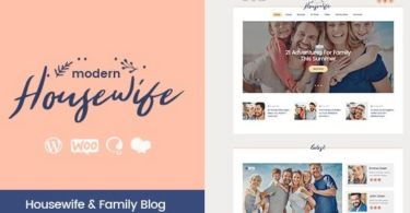 Modern Housewife – Women & Family WordPress Blog Theme