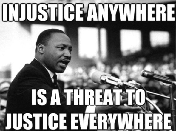 No silence for injustice