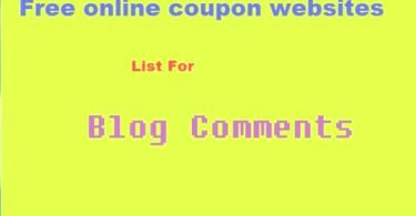 Online Coupon Websites List For SEO