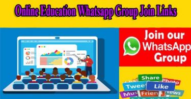 Online Education Whatsapp Group Join Links