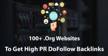 Org Sites High PR DoFollow Backlinks