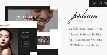 Podium – Fashion Model Agency WordPress Theme