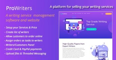 ProWriters – Sell writing services online