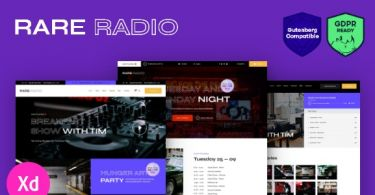 Rare Radio – Online Music Radio Station & Podcast WordPress Theme