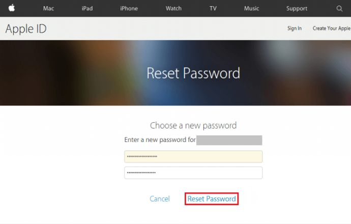 Reset Your Apple ID