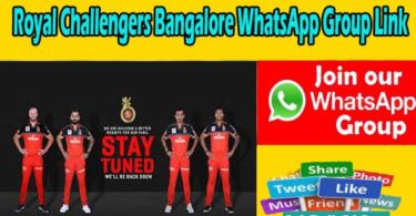 Royal Challengers Bangalore WhatsApp Group Link