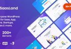 Saasland – MultiPurpose WordPress Theme for Startup Business