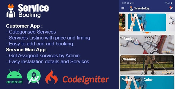 Service Booking Android app