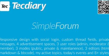 Simple Forum – Responsive Bulletin Board