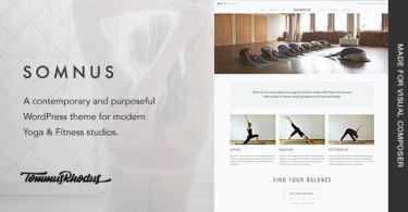 Somnus – Yoga & Fitness Studio WordPress Theme