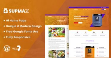 Supmax – Health & Supplement WordPress Theme