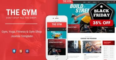 TheGym – Yoga, Fitness & Accessories Shop Joomla Template