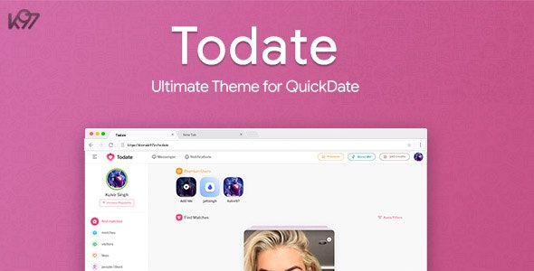 Todate – The Ultimate QuickDate Theme