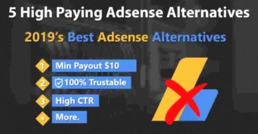 Top 5 Google Adsense Alternatives 2019