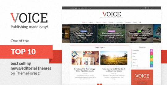 Voice Clean News/Magazine WordPress Theme
