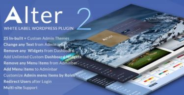 WpAlter 2 – White Label WordPress Plugin